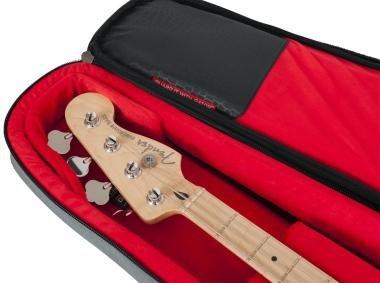 Gator GT-BASS-GRY Transit puhatok basszusgitárhoz, merev belső kialakítás, 20 mm vastag bélés, szürk