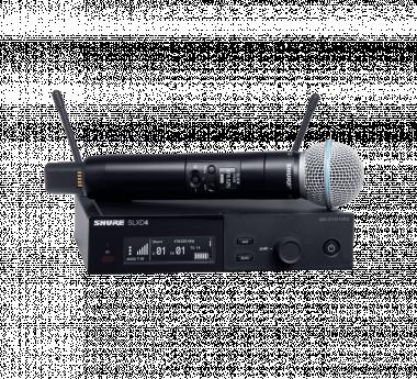 SHURE SLXD24E/B58-G59 SLX-D digitális rendszer, kéziadó BETA58A mikrofonfejjel, vevő