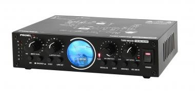 PROEL TUBE100USB Mikrofon előfok, 12Ax7 cső, USB fekete, fém, +48V fantomtáp