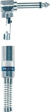 PROEL S240 Mono 6,3 mm pipa jack dugó fém, speciális kábelrögzítő (5 db/csomag)