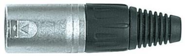 PROEL XLR3MV XLR csatlakozó papa 3P nikkellel bevont alumínium, 3 pólusú (4 db/csomag)