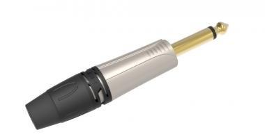 DIE HARD DHJ63MNK ONEHERO 6,3mm monó jack dugó, szerelhető, nikkel