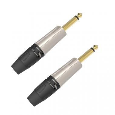 DIE HARD DHJ63MNK2 ONEHERO 6,3mm monó jack dugó, szerelhető, nikkel, 2db