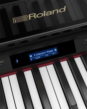 Roland GP607-PE digitális koncertzongora 3 lábú,PHA-50 billentyűzet,5 hangszóró,86 kg - fényes feket