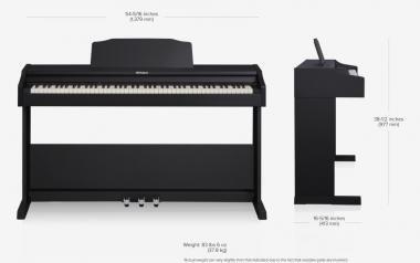 Roland RP102-BK digitális zongora 2 hangszórós PHA-4 billentyűzet, szekrényes, műanyag test- fekete