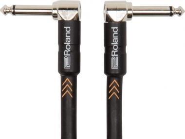 Roland RIC-B1AA 3ft / 0.3m jack-jack kábel 30cm pipa-pipa TR 6,3mm black széria