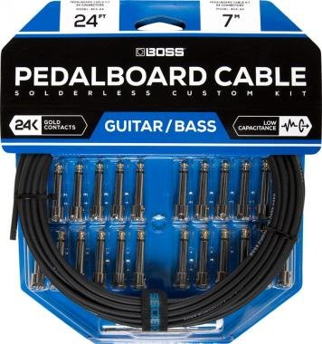 BOSS BCK-24 pedáltartó pedál board kábelkészlet 24 connectors 24ft / 7.3m kábel