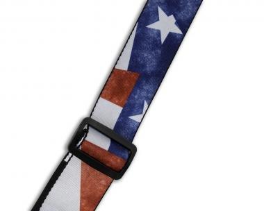 Levy's MDP-TX Gitárpánt, szublimálva nyomtatott, poliészter, 5cm széles, 165cm hosszú, koptatott zás